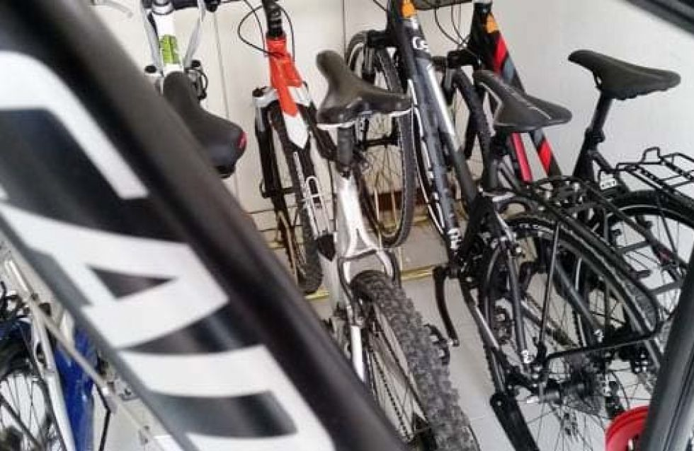Our bike room